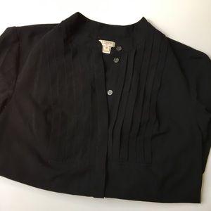 Long Sleeve Black Blouse   J. Crew Factory